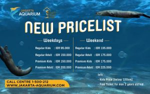 Jakarta Aquarium新料金 子供価格設定有