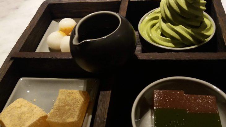 京都本家の辻利茶屋、ジャカルタのAYANAホテル内、Blue terraceで食べられます。